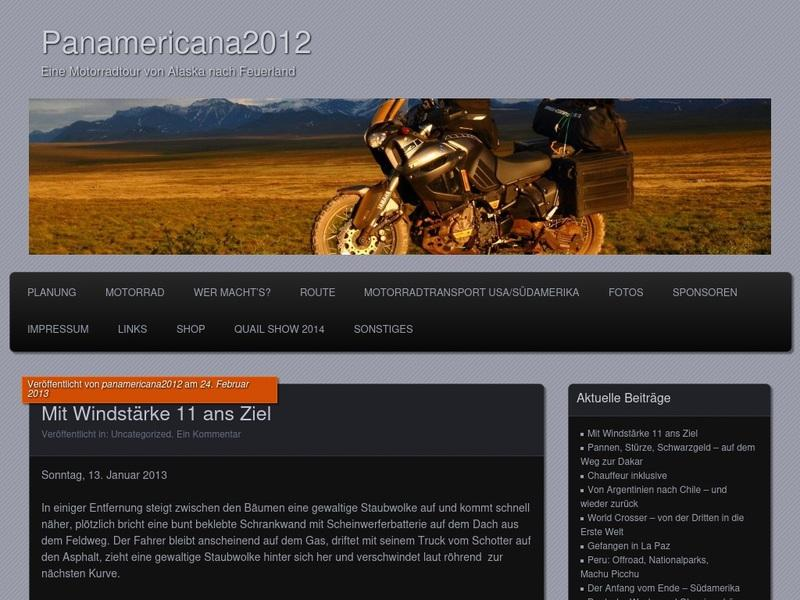 Screenshot von www.panamericana2012.wordpress.com